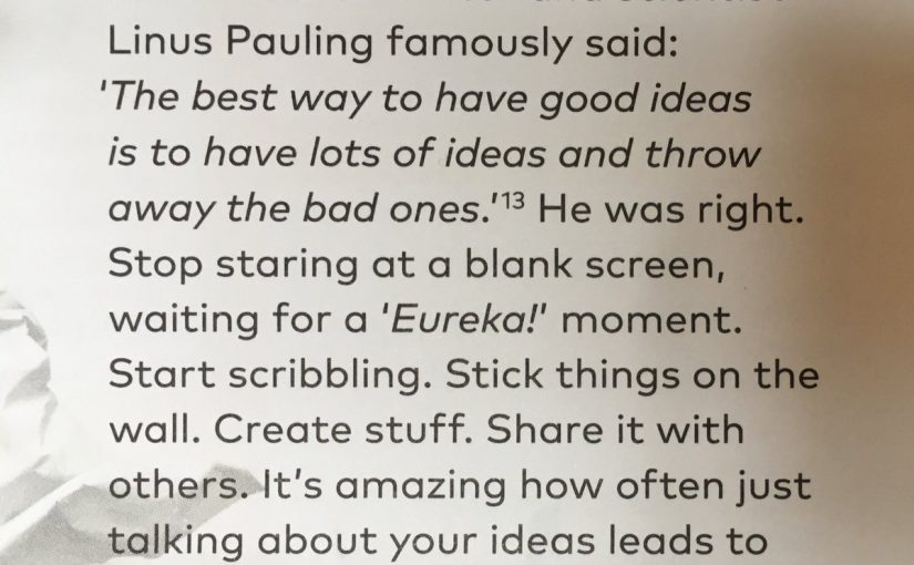 On how to have good ideas