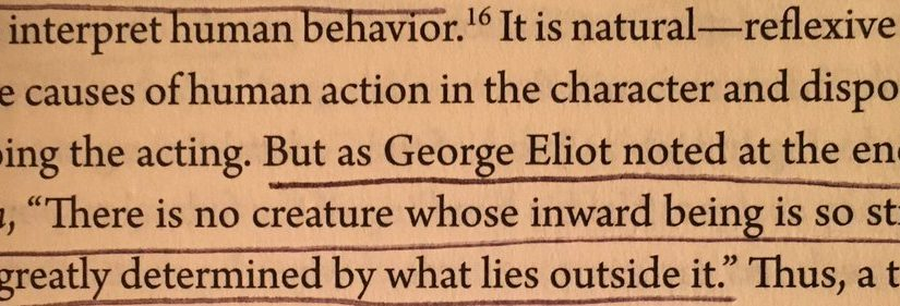 💎 On overestimating the importance of personality when explaining behaviour and underestimating context (of those doing the acting)