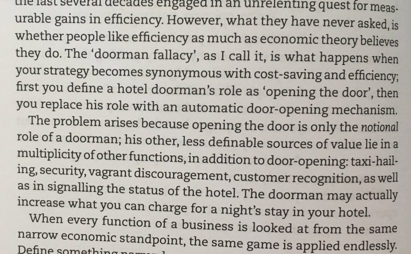 On the doorman fallacy
