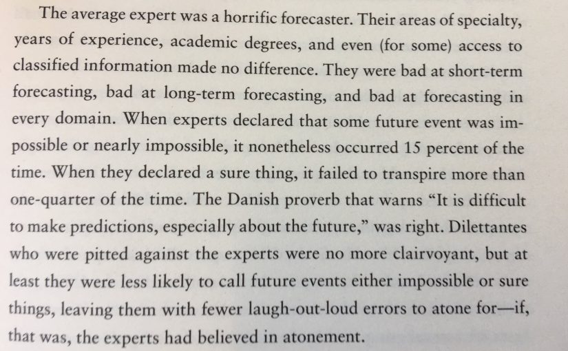💎 On expert predictions (beware)