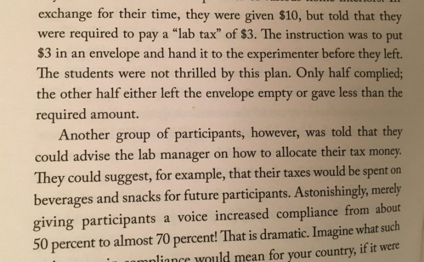 on the importance of giving people a sense of control