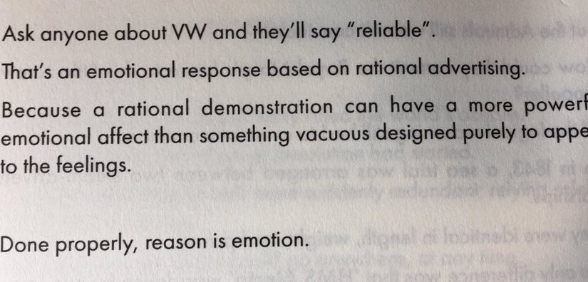 💎 On the false distinction between emotional and rational ad campaigns (demonstrated best by Volkswagen)