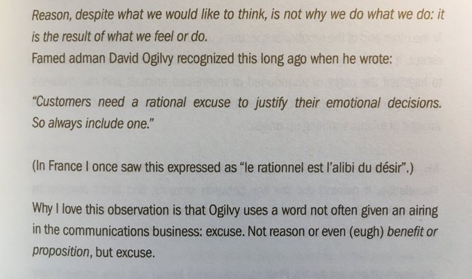 💎 On the rational excuse justifying the emotional decision (always include one)