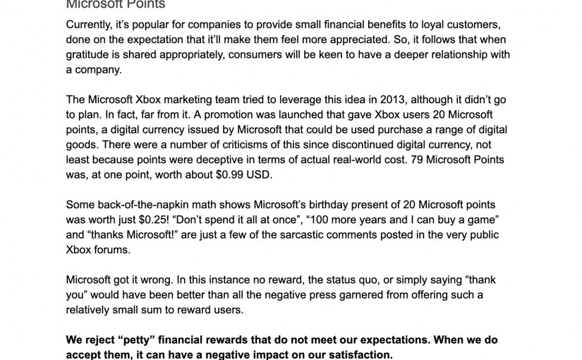 "💎 On the danger of (Microsoft's) ""petty"" financial rewards"