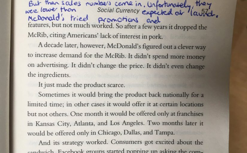 💎 On the McRib and the power of scarcity (bring back the McRib!)