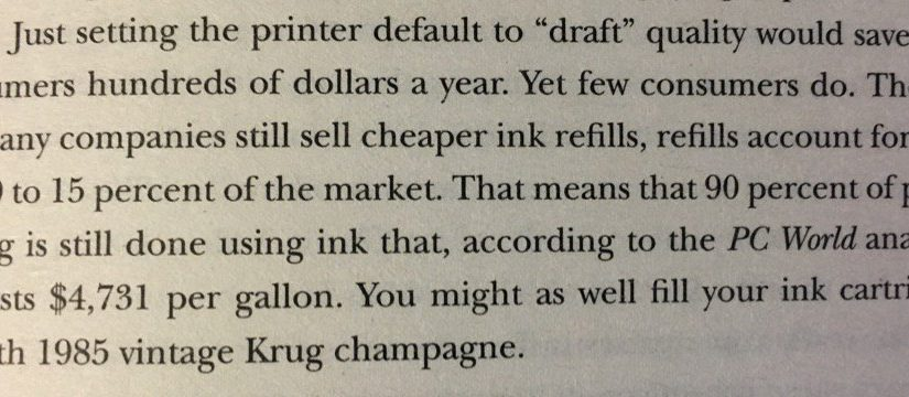 💎 On consumers being price sensitive in some areas but price blind in others (printer ink versus champagne)