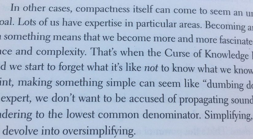 💎 On danger of experts thinking that simple solutions are simplistic (Curse of Knowledge)