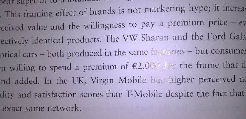 💎 On the financial value of the framing effect of brands