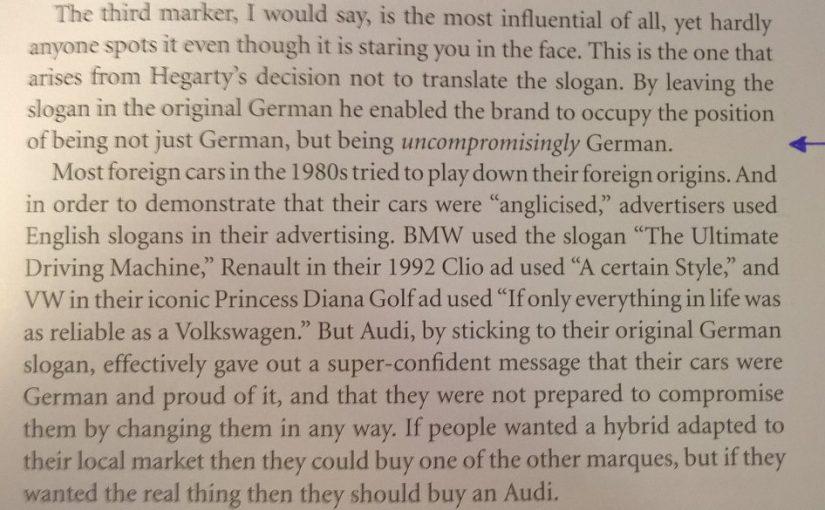 💎 On confident branding (Renault versus Audi)
