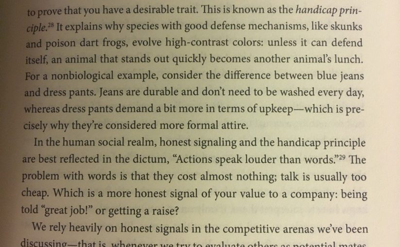 💎 On communications becoming more believable if they're 'wasteful' (the handicap principle)