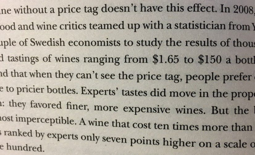💎 On the power of a price tag (they are used as an incorrect indicator of quality)