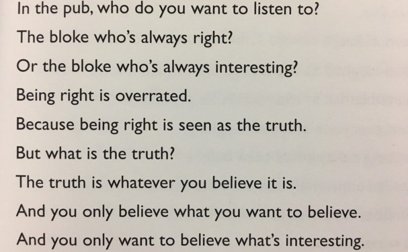 💎 On the importance of being interesting (not just being right)
