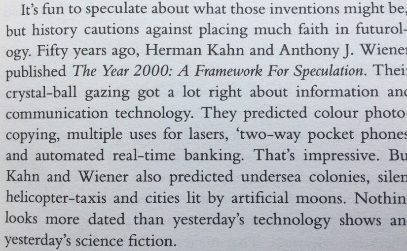 💎 On speculation about the future often being pointless (as it is little better than chance)