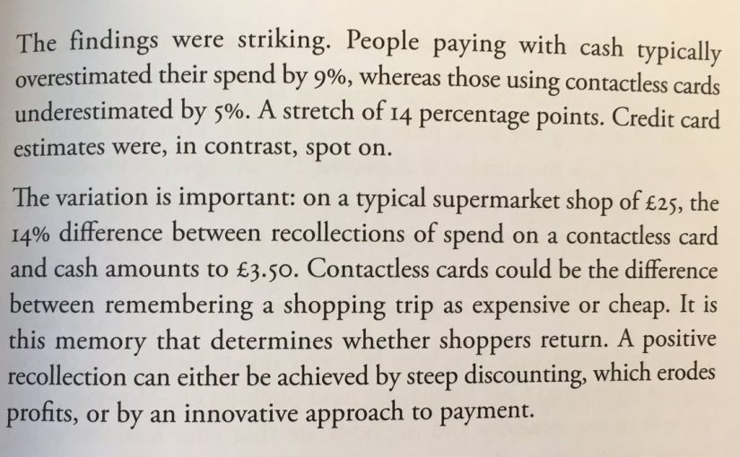 💎 On how contactless payments reduce price sensitivity (beware overspend)