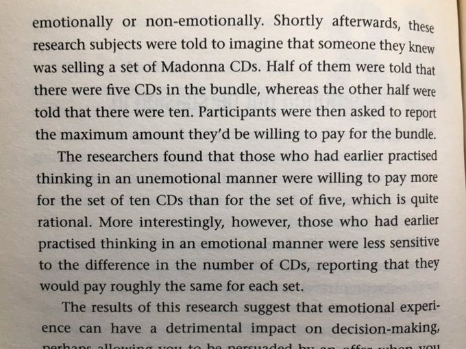 💎 On how our emotions lead us to become less sensitive to differences in the magnitude of numbers (buyer beware)