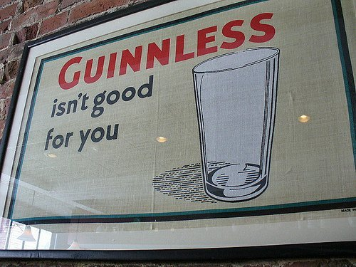 ♦️ Guinness's response when regulations stopped them saying it was good for you