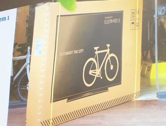 VanMoof puts its bikes in TV packaging so couriers treat them with more care