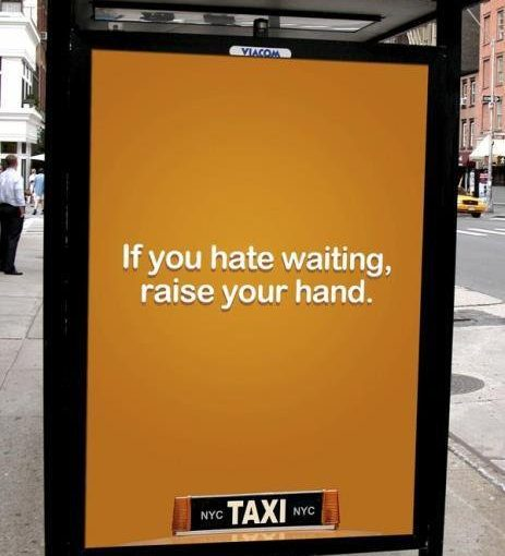 ♦️ NYC Taxi ad using a smart piece of interactivity