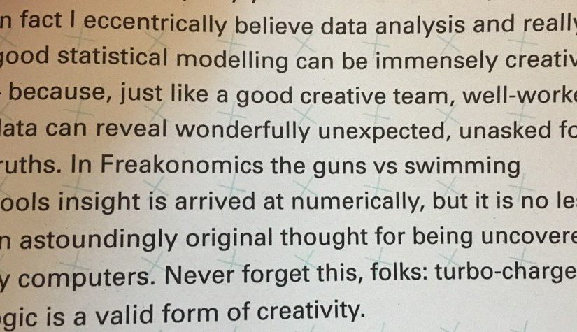 💎 On turbo charged logic being a valid form of creativity (statistical modelling can be immensely creative)