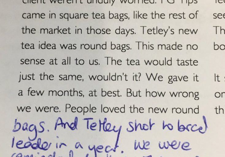 💎 On the power of not making sense (round tea bags)