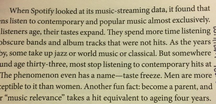 💎 On taste freeze in music (somewhere around age thirty-three)
