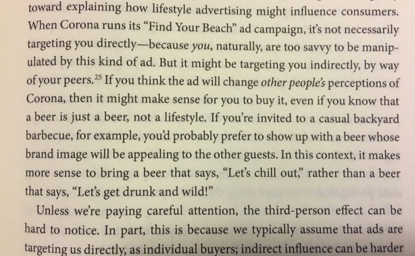 💎 On the third-person effect (an explanation for the influence of lifestyle ads)