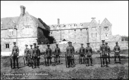 Ballina Workhouse converted to Free State barracks c.1921