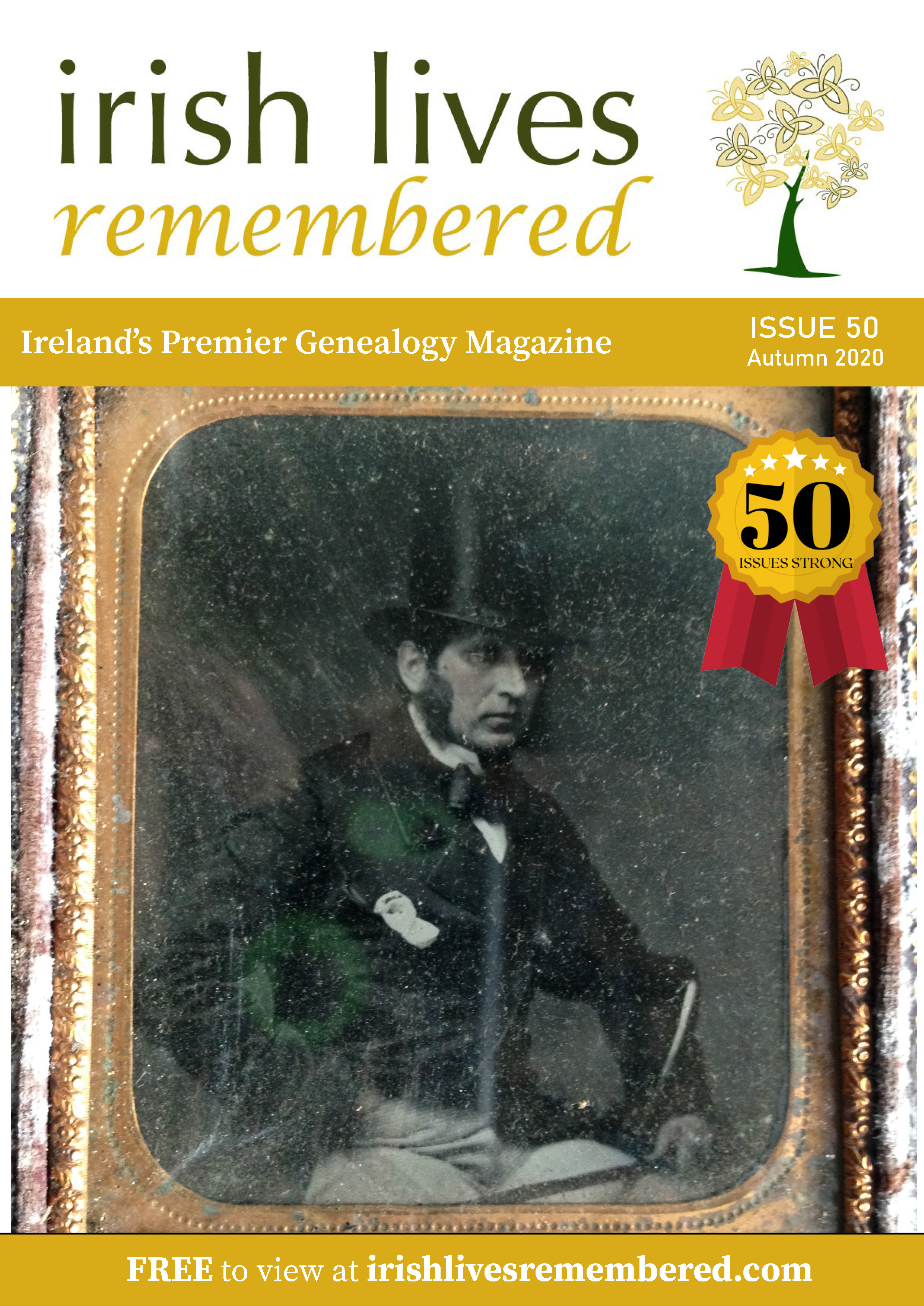 photo of Irish Lives Remembered Issue 50 Autumn 2020