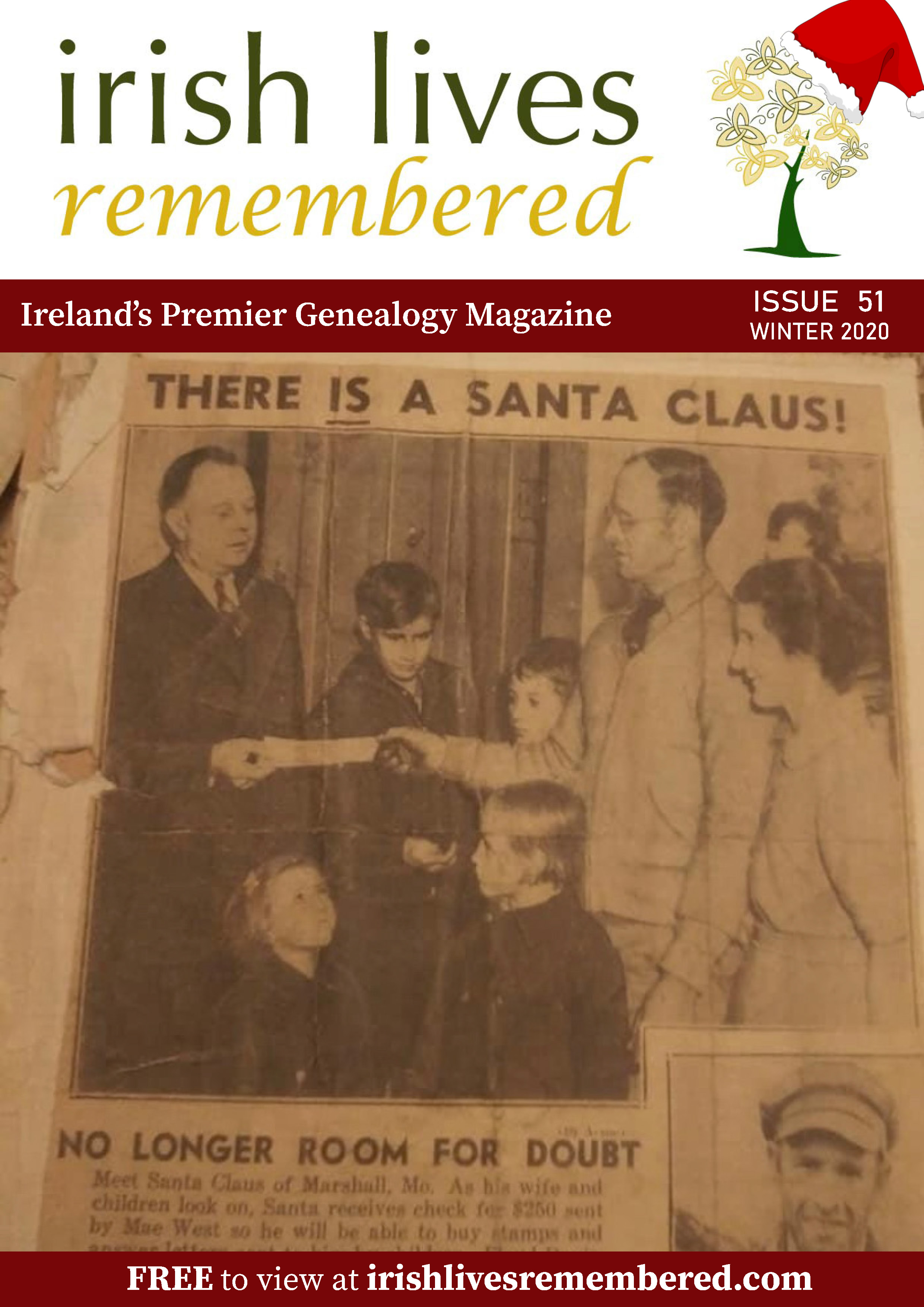 photo of Irish Lives Remembered Issue 51 Winter 2020