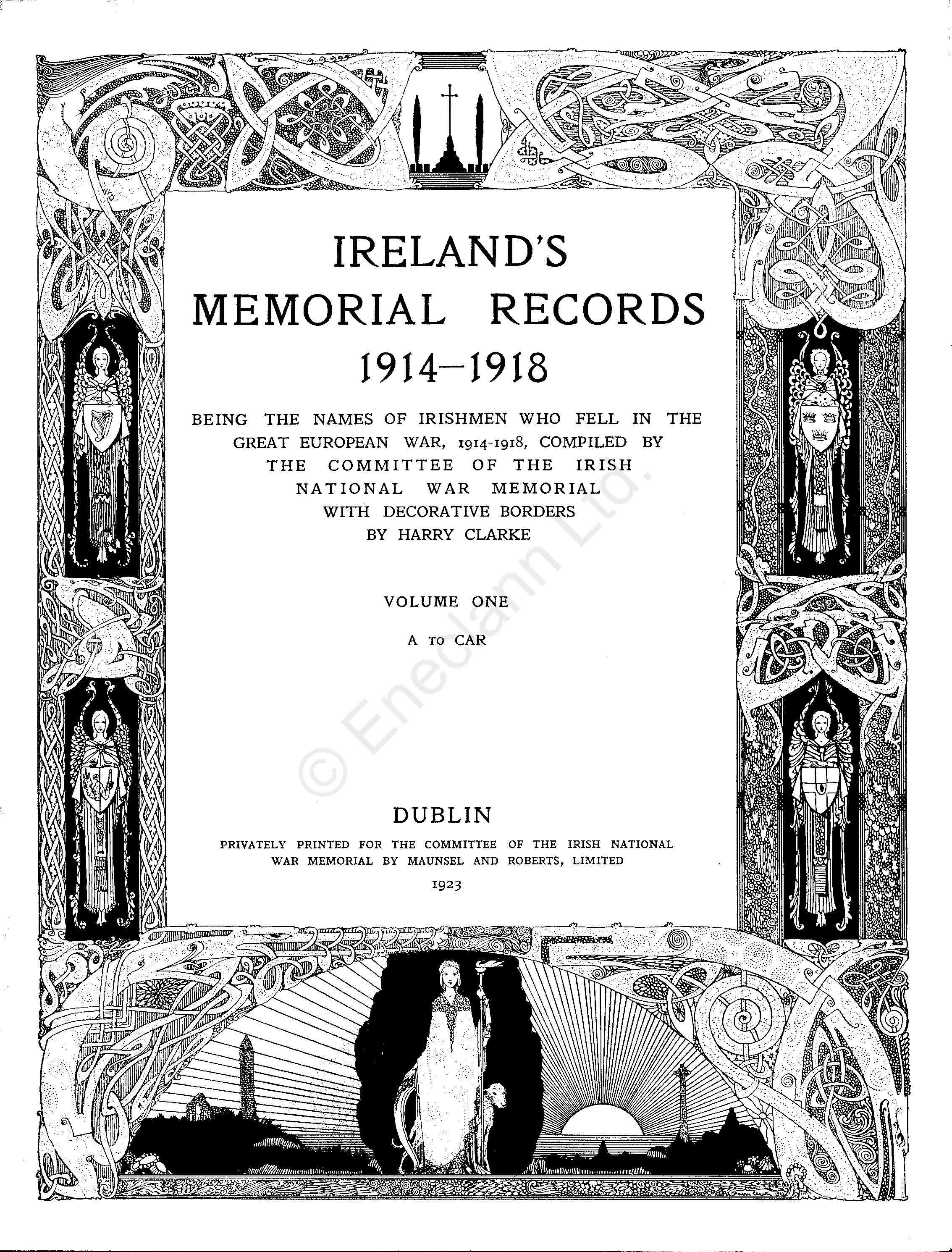 photo of Ireland's Memorial Records WW1