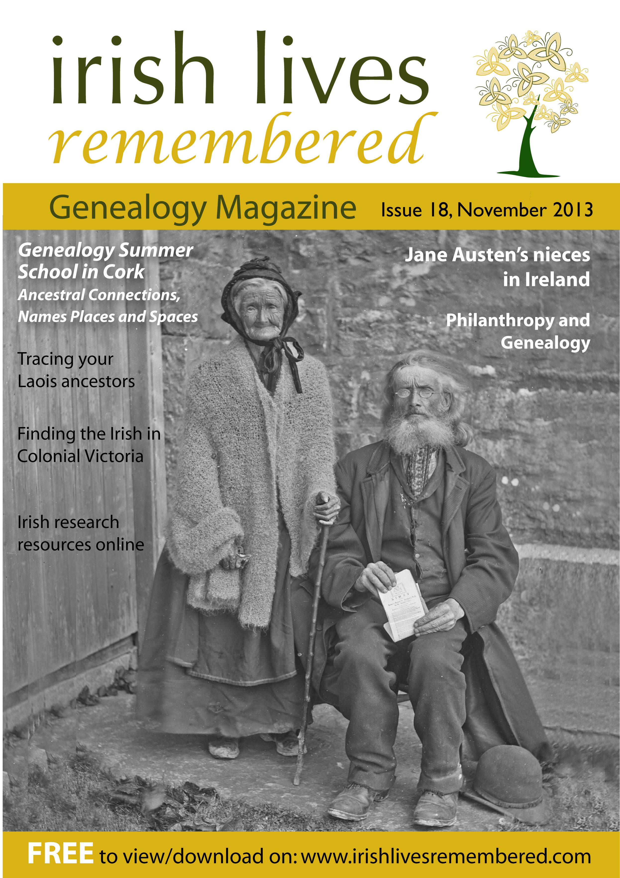photo of Irish Lives Remembered Issue 18 November 2013