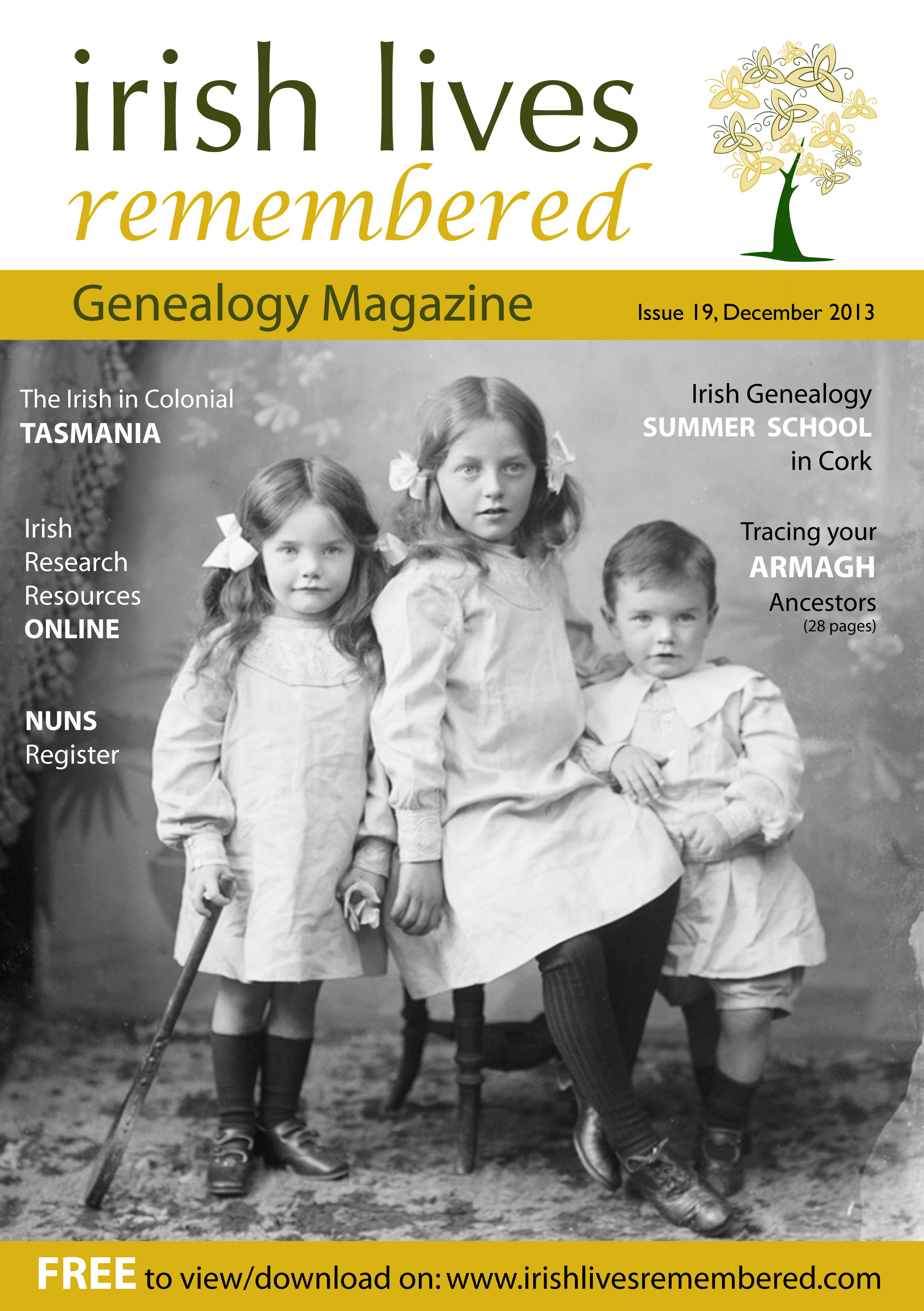 photo of Irish Lives Remembered Issue 19 December 2013