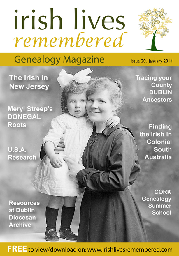 photo of Irish Lives Remembered Issue 20 January 2014