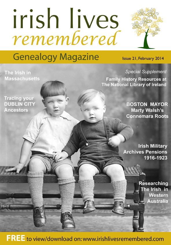 photo of Irish Lives Remembered Issue 21 February 2014