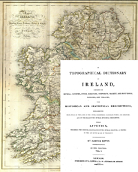 photo of Samuel Lewis, Topographical Dictionary of Ireland, 3 vols (1st Edition, 1837)