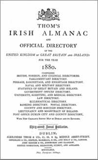 photo of Thom's Irish Almanac 1880
