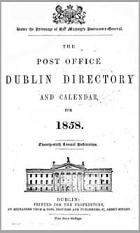photo of The Post Office Dublin Directory and Calendar for 1858