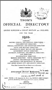 photo of Thom's Official Directory of Ireland, 1910
