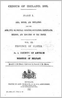 photo of Census Reports: Antrim 1851 (DOWNLOAD)