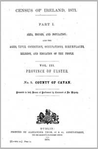 photo of Census Reports: Cavan 1881 (DOWNLOAD)