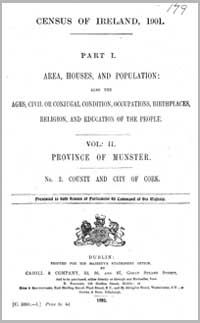 photo of Census Reports: Cork City & County 1881 (DOWNLOAD)
