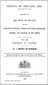photo of Census Reports: Donegal 1881 (DOWNLOAD)