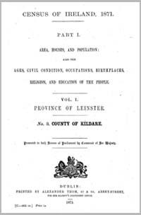 photo of Census Reports: Kildare 1851 (DOWNLOAD)
