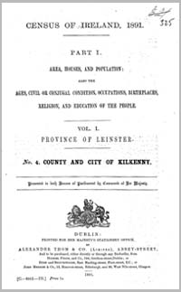 photo of Census Reports: Kilkenny 1891 (DOWNLOAD)