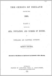 photo of Census Reports: King's County 1851 (DOWNLOAD)
