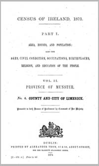 photo of Census Reports: County Limerick 1851 (DOWNLOAD)