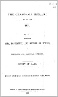 photo of Census Reports: County Mayo 1901 (DOWNLOAD)