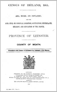 photo of Census Reports: County Meath 1911 (DOWNLOAD)