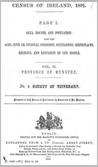 photo of Census Reports: County Tipperary North Riding 1861 (DOWNLOAD)