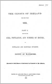 photo of Census Reports: County Waterford 1881 (DOWNLOAD)